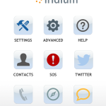 Iridium Go App interface.