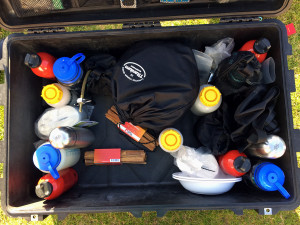 peli case with yukon expedition equipment