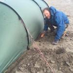 Wir errichten einen Wassergraben