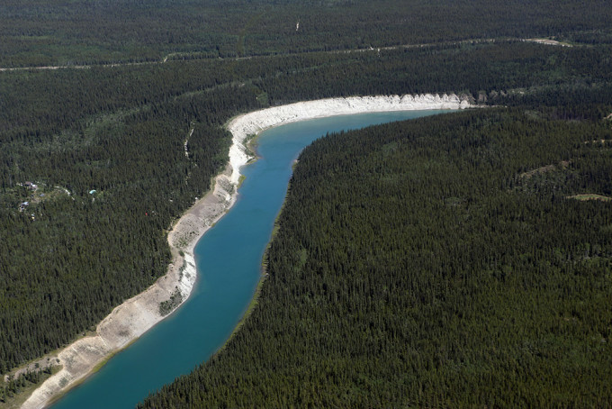 Yukon River, seen from the air.