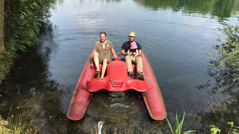 Wieder unterwegs mit dem roten Boot